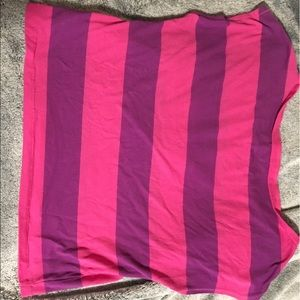 pink and purple stripes crop top